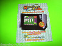 MEGATOUCH VIDEO By MERIT '94 ORIGINAL NOS VIDEO ARCADE GAME MACHINE SALES FLYER