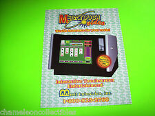 MEGATOUCH VIDEO By MERIT '94 ORIGINAL NOS VIDEO ARCADE GAME MACHINE SALES FLYER