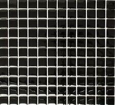 Mosaico Piastrella Translucent Glass Crystal nero specchio 70-0304 | 1 foglio