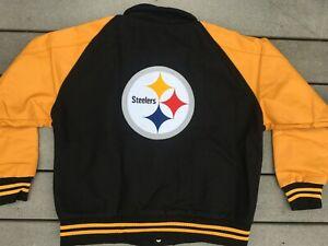 NEW vtg Pittsburgh Steelers letterman jacket sz XL varsity bomber starter jersey