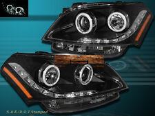 NEW Fits 10-11 Kia Soul Black CCFL Angel Eyes Halo Rim Projector LED Headlights