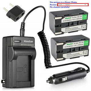Kastar Battery AC Charger for Samsung SB-L320 Samsung SC-L610 SCL610 Camcorder