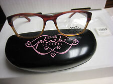 Phoebe Couture  Eyeglass Frames P242   BURGUNDY  50-17-130 With  Case New
