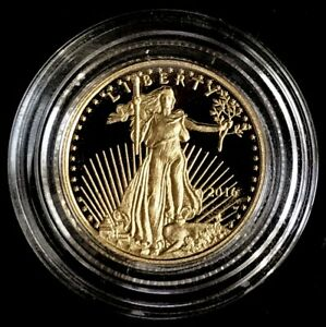 2016 W WEST POINT GOLD UNITED STATES $5 PROOF 1/10 OZ EAGLE COIN IN CAPSULE
