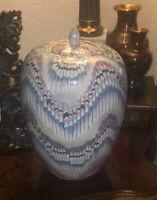 Macau Ginger Jar Vintage Toyo Nouveau Lustre Iridescent Cascade Purple Bowl