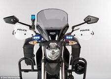 2x 3 Led BLUE STROBE Flash POLICE LIGHT Emergency Warning light- cars/ bikes