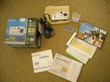 Sony Cyber-Shot DSC-P72 digital camera with 2 memory sticks w/ box instructions