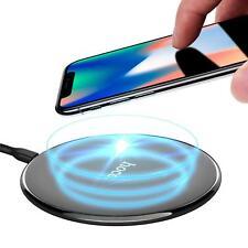 iPhone Samsung Ladegerät Qi Schnell Ladestation Wireless Fast Charger in SCHWARZ