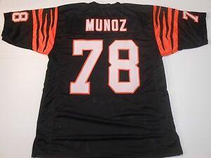 UNSIGNED CUSTOM Sewn Stitched Anthony Munoz Black Jersey - M, L, XL, 2XL, 3XL