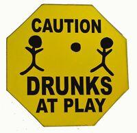 BEER WINE BOOZE SEX CAUTION DRUNKS PLAY FUNNY SIGN POOL TIKI BAR TROPICAL ISLAND