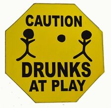 BEER WINE BOOZE SEX CAUTION DRUNKS PLAY FUNNY SIGN POOL TIKI BAR TROPICAL ISLAND
