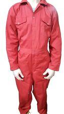Men's White Royal Navy Red Boiler suit Coveralls Overalls Mechanic Work wears
