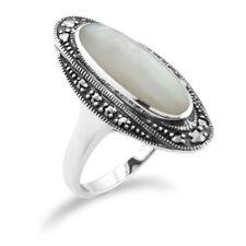 Anelli di lusso perla bianchi