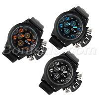 Men Cool Multi-function Rubber Outdoor Sports Date Decoration Quartz Wrist Watch