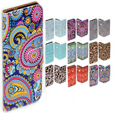 For Sony Xperia Series - Paisley Print Pattern Wallet Mobile Phone Case Cover