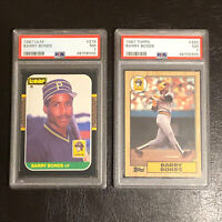 2- 1987 Barry Bonds RC's: Leaf Card #219 PSA 7 HOT!, Topps Card #320 PSA 7