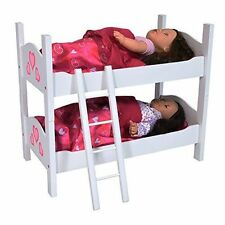 doll bunk bed 18 inch american girl dolls furniture wooden ladder mattress bedding - Beds For American Girl Dolls