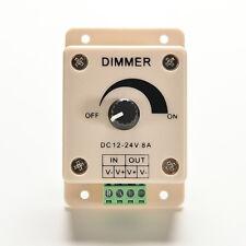 12V 8A PIR Sensor LED Strip Light Switch Dimmer Brightness Adjustable Controller