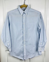 Brooks Brothers Mens 16 32/33 Blue Pin striped Button Down Shirt 100% Cotton