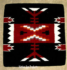 "Pillow Cover Southwest Western Home Decor 18x18"" Black Wool / Acrylic #73"