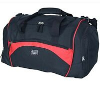 Holdall Sports Gym Exercise Weekend Overnight Bag Black & Red Mens Mans