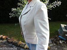 Luxus Edel Lederjacke Gr. L 42 (44 HEINE  Kalkweiß Weißlederjacke Jacket Leather