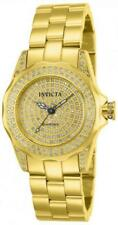 Invicta 14521 31mm 0.95CTW Pro Diver Diamond Pave Dial Gold Tone Womens Watch