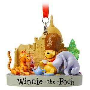 Disney World Epcot United Kingdom Pavilion Winnie the Pooh Figure Ornament, NEW