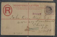 BARBADOS COVER (PP1003BB) 1891 QV 4D ON RLE SENT TO USA