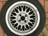 "GENUINE OEM VOLKSWAGEN GOLF / CORRADO 15"" ALLOY WHEEL & TYRE 191601025AA"