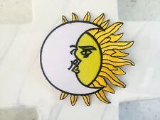 Hippie Astrology Sun Moon Night Sign Rock Party Iron On Patches Patch