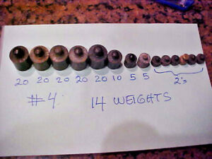 #4 Set of more Vintage APOTHECARY or GOLD SCALE WEIGHTS -14 WEIGHTS TOTAL