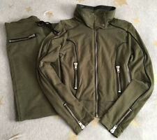 XS Beach Bunny 2 Pc Lounge Pant Jacket Set Green Black Leather Cold Hearted Moto