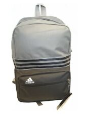 Original Adidas 3-Stripes Backpack Rucksack Gym/Sports/School Bag Black & Grey