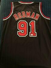 Chicago Bulls Dennis Rodman Autograph Black Jersey JSA certified auto