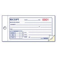 Rediform Small Money Receipt Book, 5 X 2 3/4, Carbonless Duplicate, 50 Sets/Book