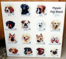 Popular dogs ~boxer, labrador, poodle, terrier,Pug, Beagle, bulldog CERAMIC TILE
