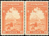 Mint Canada 1927 Pair 20c Scott #E3 Special Delivery Stamps Never Hinged