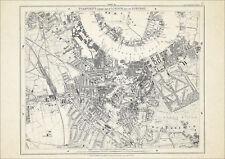 Old map London 1877 #16 repro - Greenwich, Blackheath, Deptford, New Cross etc