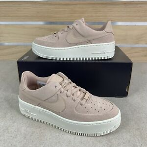 Nike Women's Air Force 1 AF1 Sage Low AR5339-201 Particle Beige White Size 7.5