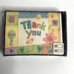 Hallmark Blank Thank You Cards Baby Shower Note Envelopes Boy Girl