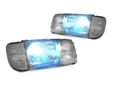 *Bi-Xenon HID Euro Glass Headlight w/ Smoke Corner + Wire For 81-91 MercedesW126