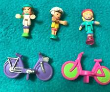 Polly Pocket Polly On The Go VARIATION lot Bicycle Bike Friends COMPLETE