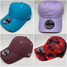 New Era 9TWENTY Adj Strapback Hat Dad Cap - Blank - Maroon, Turq, Lavender, Camo