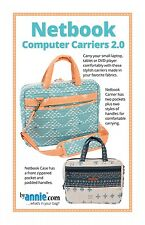 NETBOOK COMPUTER CARRIERS 2.0 BAG SEWING PATTERN, from By Annie, *NEW*