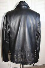 Harley Davidson Leather Jacket ALTERNATOR Studded Side Laces 97001-03VM Large