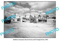 OLD 6 x 4 PHOTO FEATURING SMITHTON TASMANIA VIEW OF THE BACON FACTORY c1960