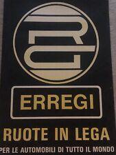 Vtg Italian Erregi Hefty Alloy Automobile Racing Wheels Advertising Poster
