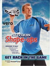 2011 SKECHERS magazine ad shape ups print page clipping sneakers JOE MONTANA NFL