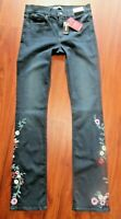 EXPRESS BARELY BABY SOFT STRETCH MID-RISE FLOWER EMBROIDERED JEANS, 4 LONG  $98